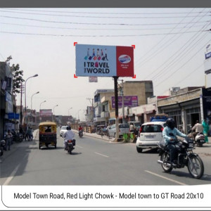 Model Town road Chock Red Light GT Road