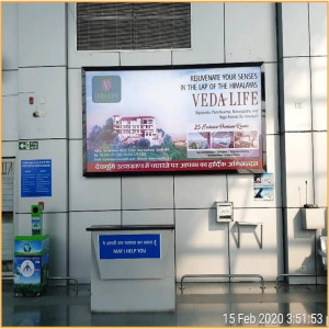 Dehradun,RHS Wall after entering Arrival