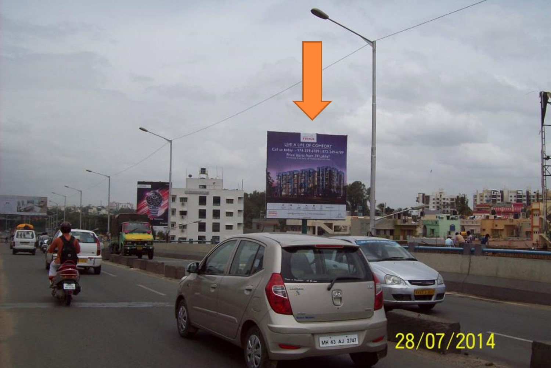 At Nagavara Flyover, Bangalore
