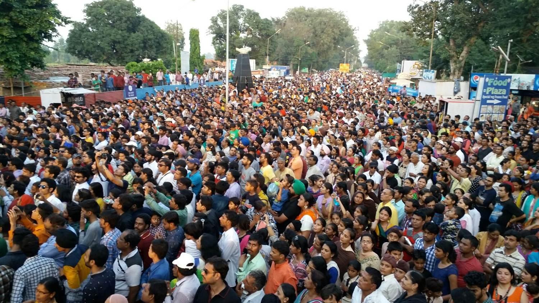 Crowd at Wagha Border, Amritsar