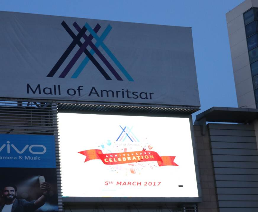LED on mall faade, Amritsar