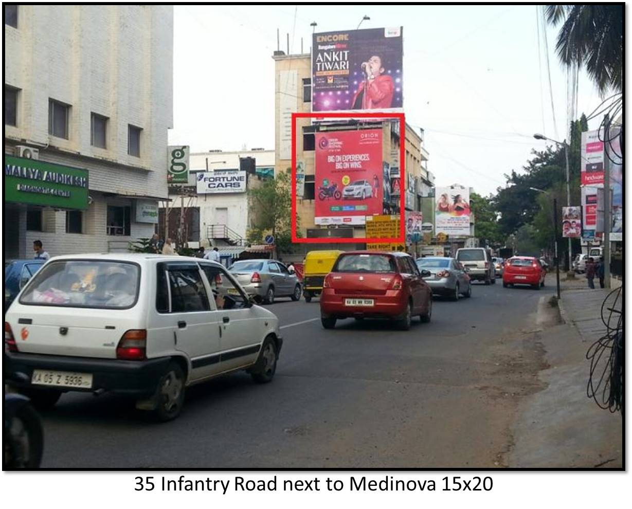 Infantry Road next to Medinova, Bengaluru