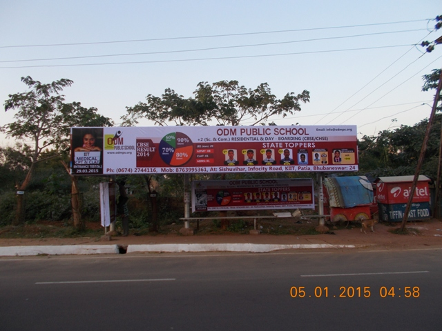 Press chhak bus shelter, Bhubaneswar