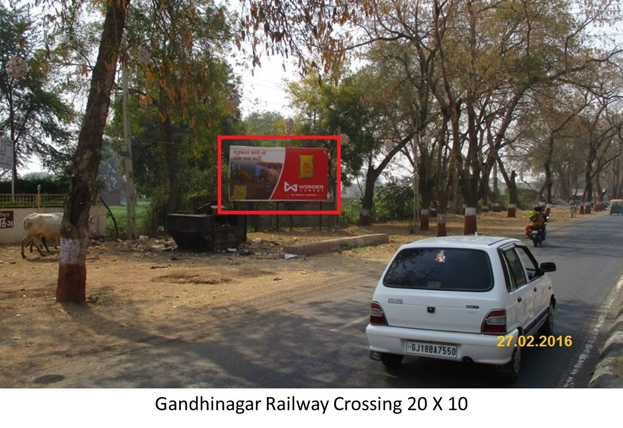 Railway Crossing, Gandhinagar