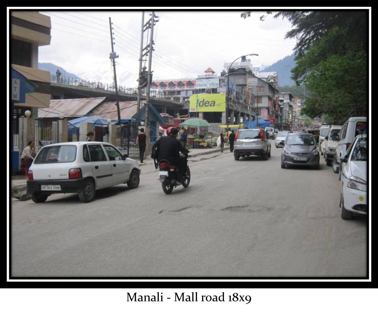 Mall road main market, Manali