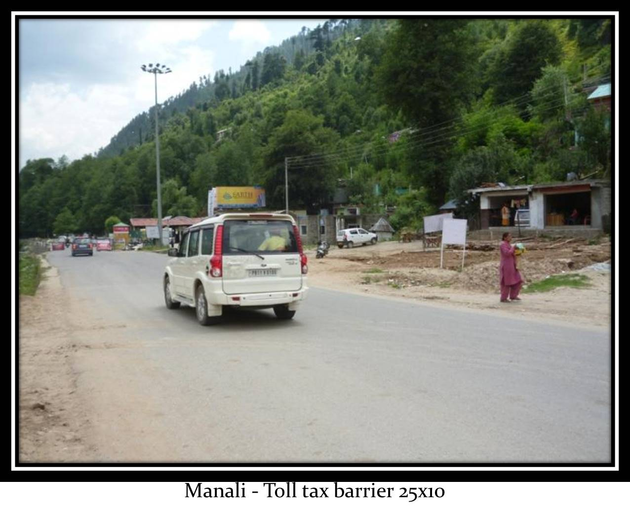 Toll tax barrier, Manali