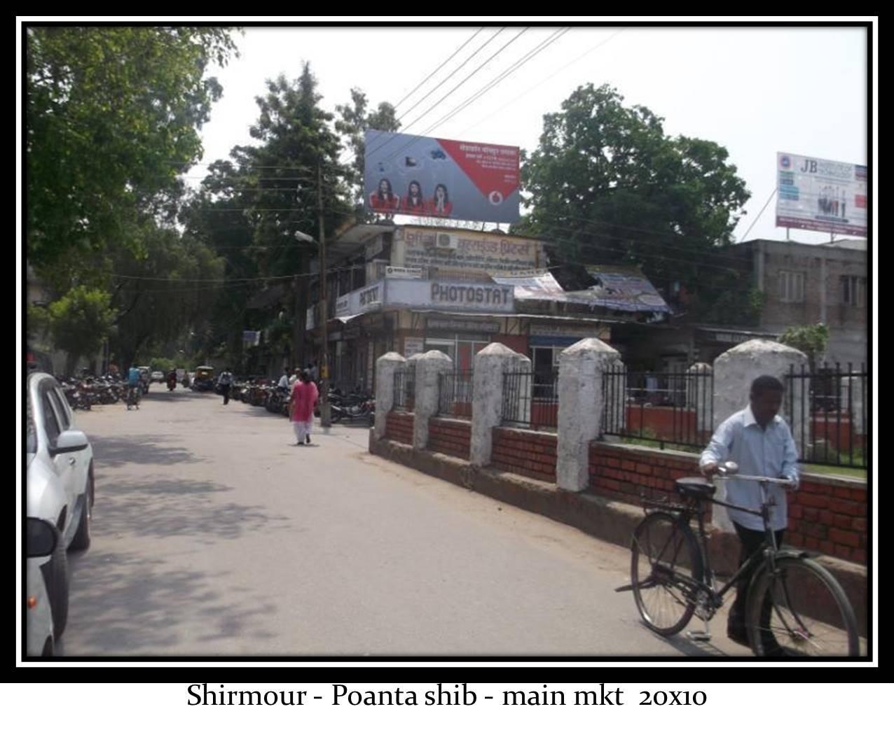 Poant main market, Sirmaur