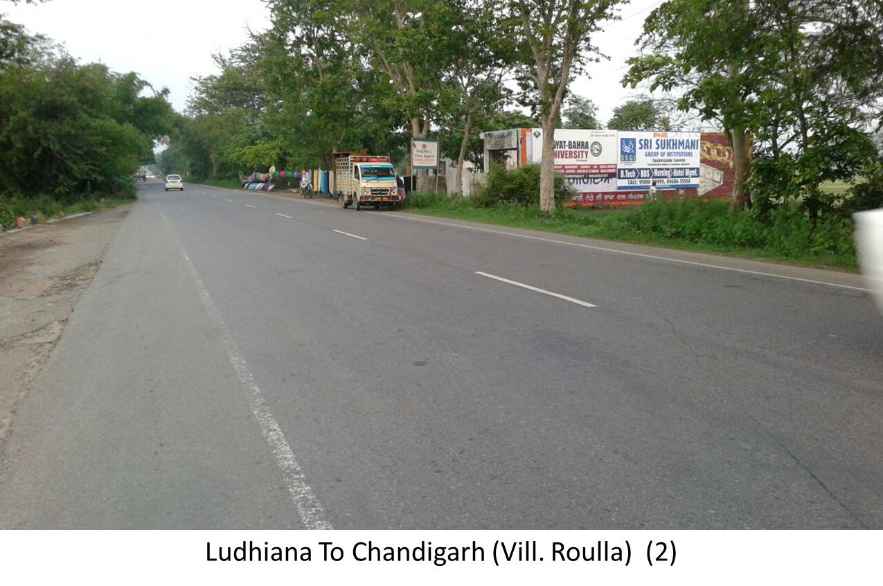 Nr Village  Roulla,  Ludhiana to Chandigarh Highway