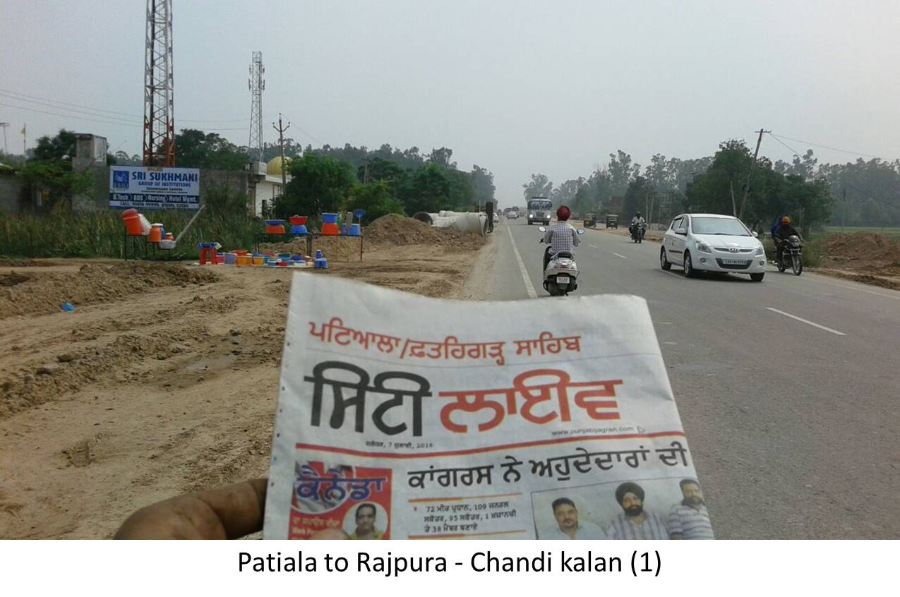 Chandi kalan, Patiala to Rajpura Highway