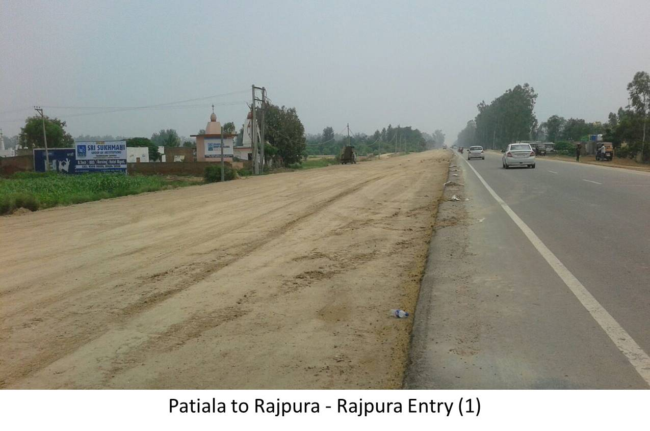 Rajpura Entry, Patiala to Rajpura Highway