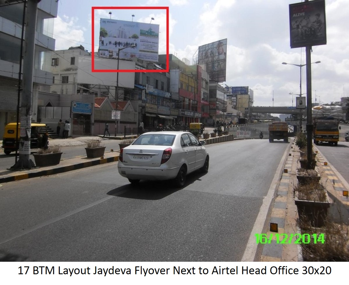 BTM Layout Jaydeva Flyover Next to Airtel Head Office, Bengaluru