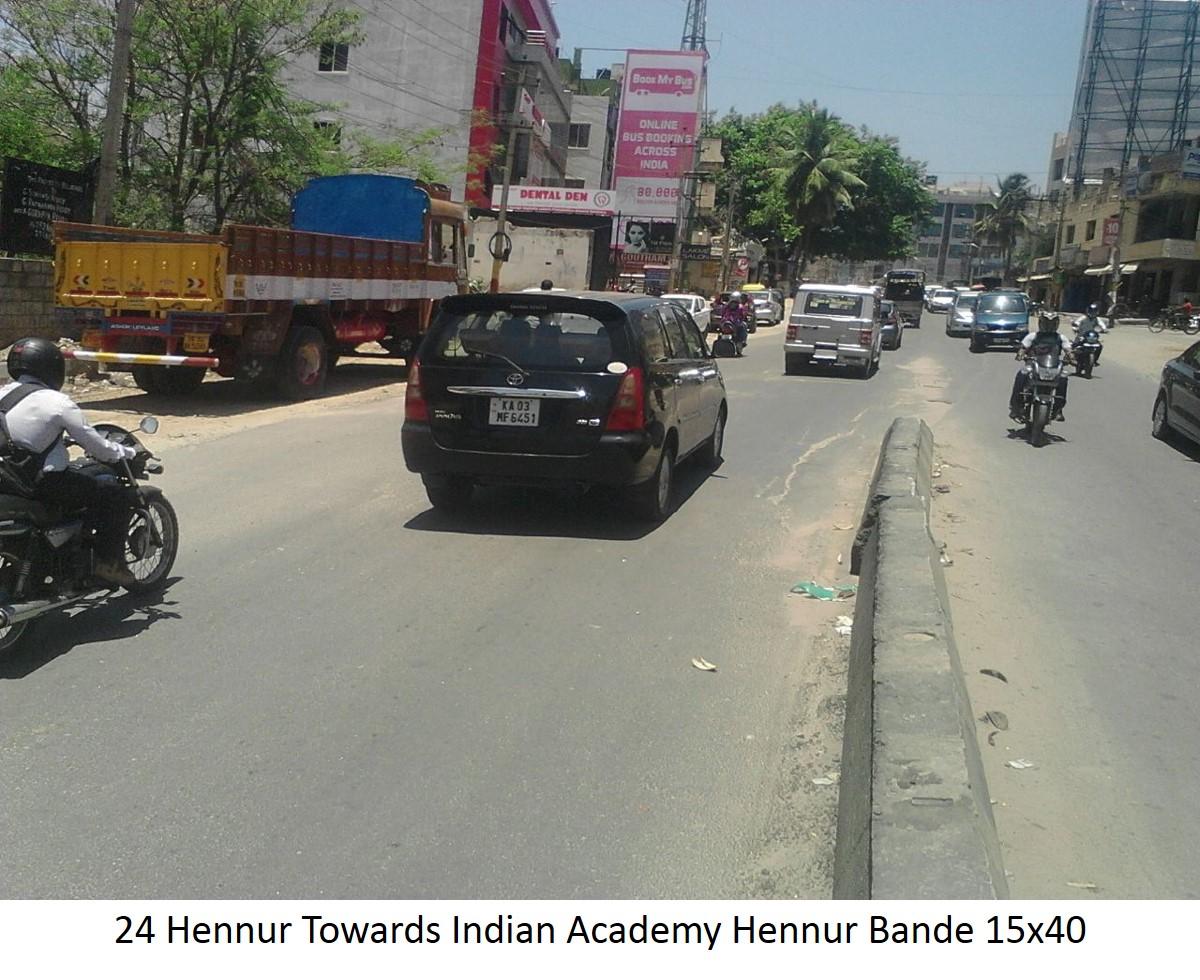 Hennur Towards Indian Academy Hennur Bande, Bengaluru