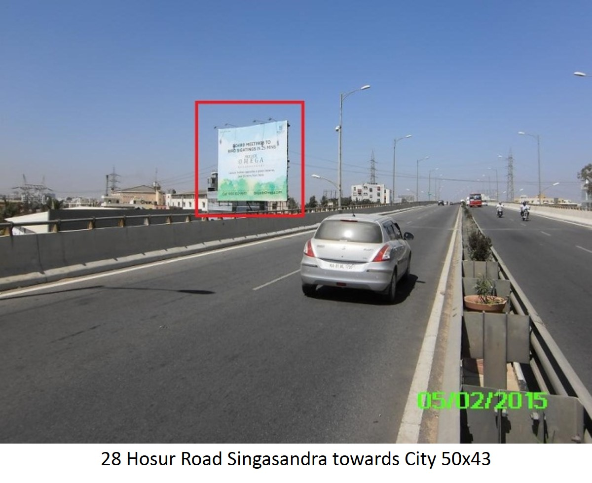 Hosur Road Singasandra Towards City, Bengaluru