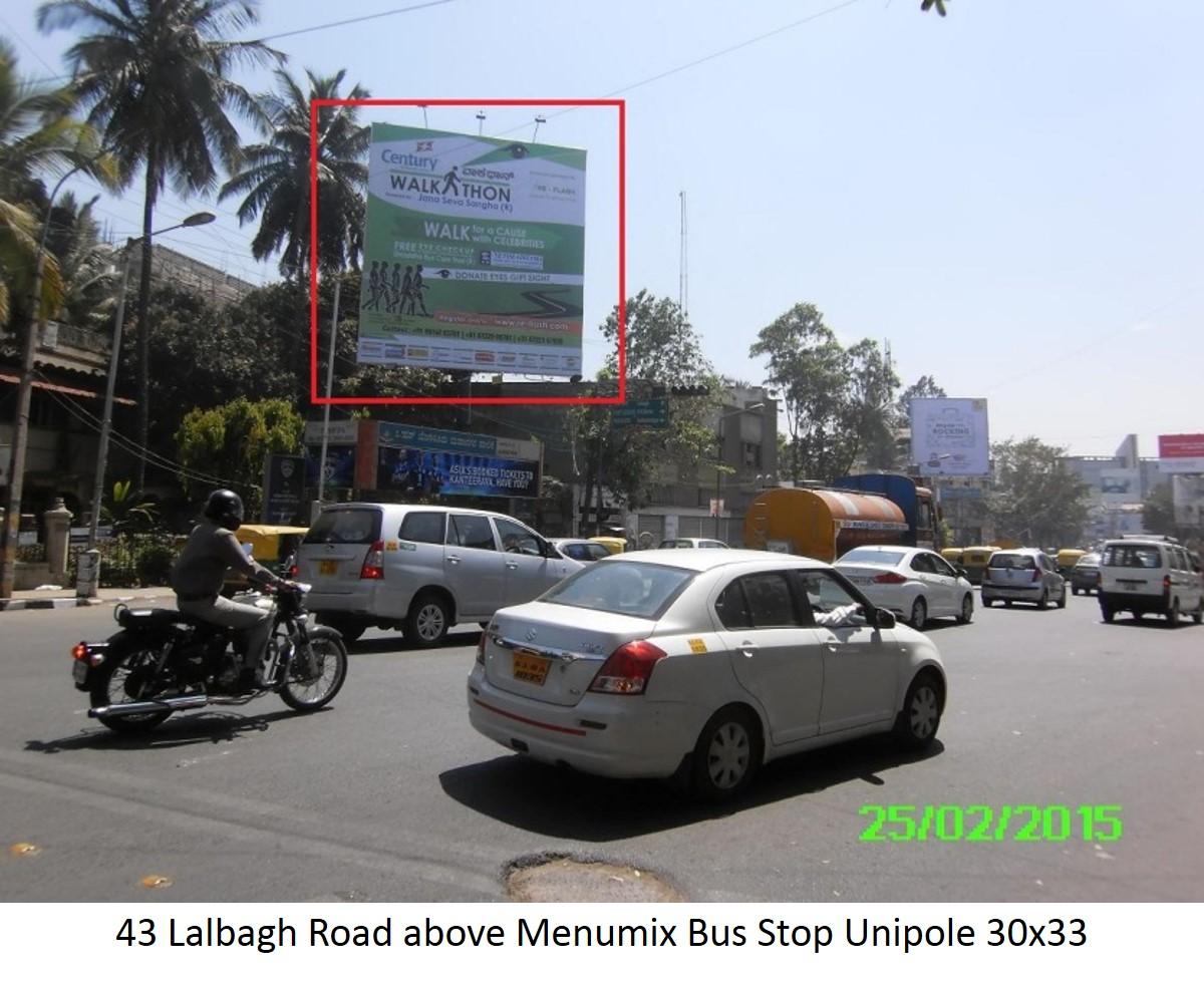 Lalbagh Road Above Menumix Bus Stop, Bengaluru