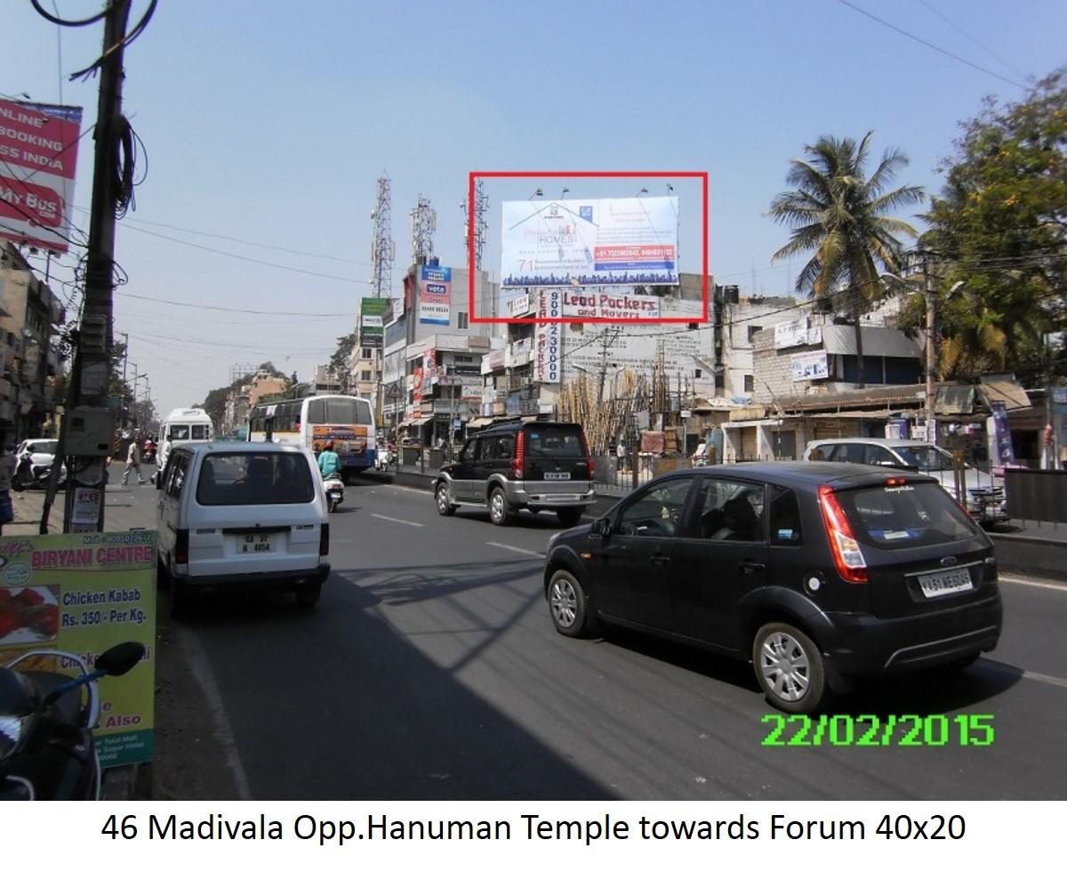 Madivala Opp.Hanuman Temple Towards Forum, Bengaluru