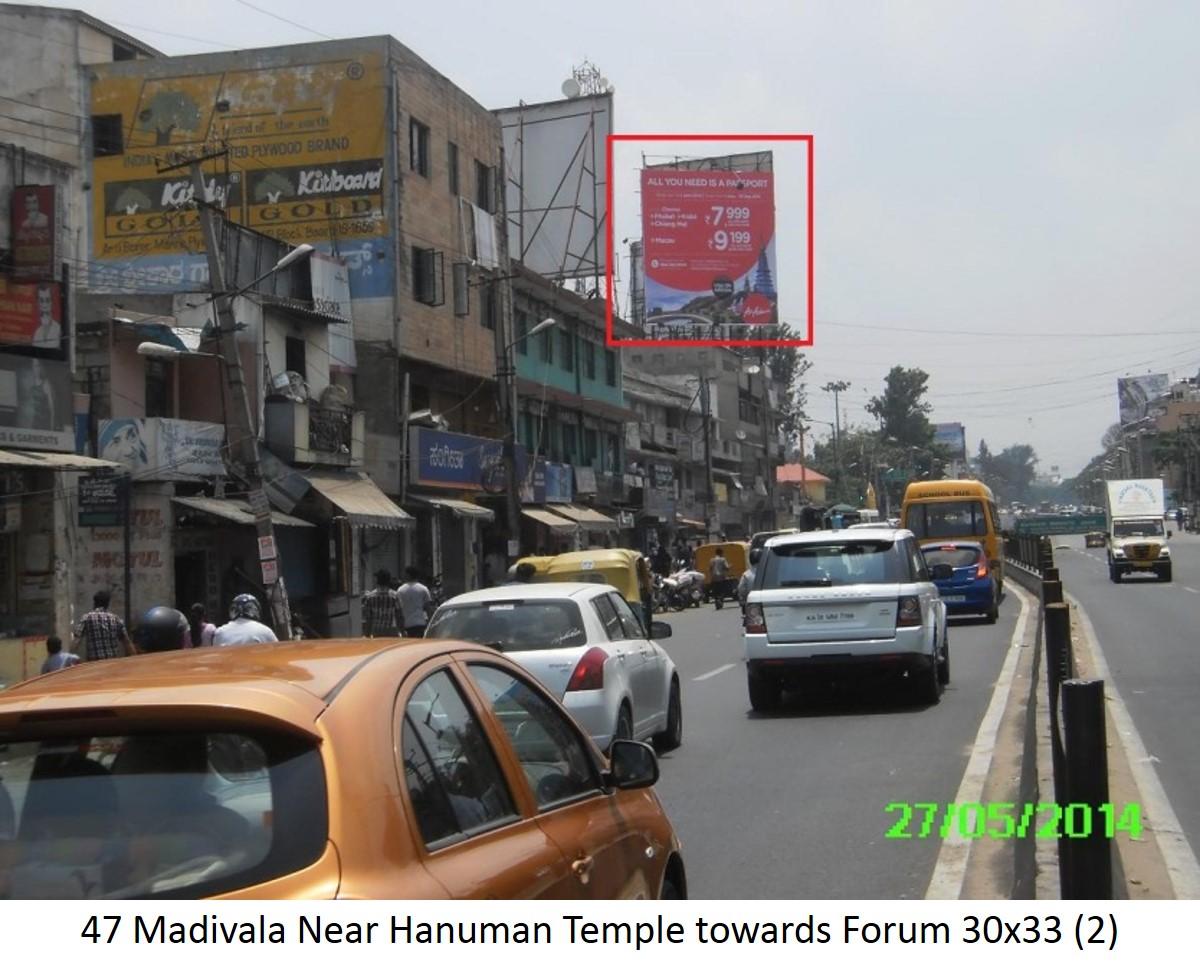 Madivala Near Hanuman Temple Towards Forum, Bengaluru