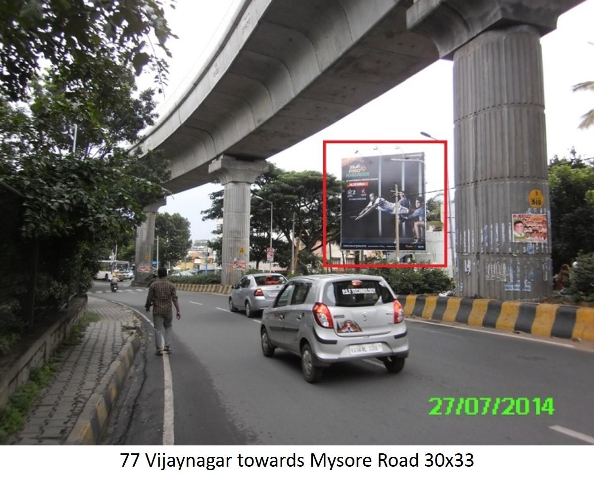 Vijaynagar towards Mysore Road, Bengaluru