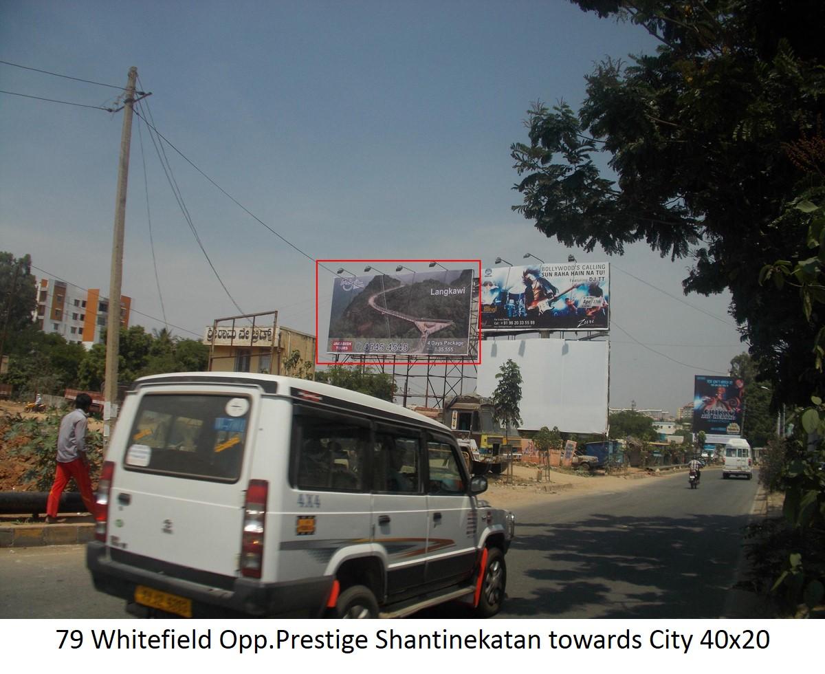 Whitefield Opp.Prestige Shantinekatan towards City, Bengaluru