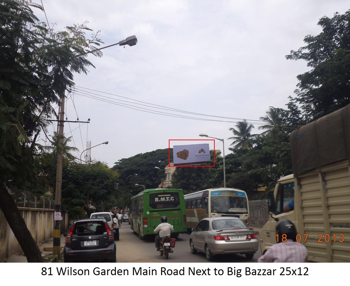 Wilson Garden Main Road Next to Big Bazzar, Bengaluru