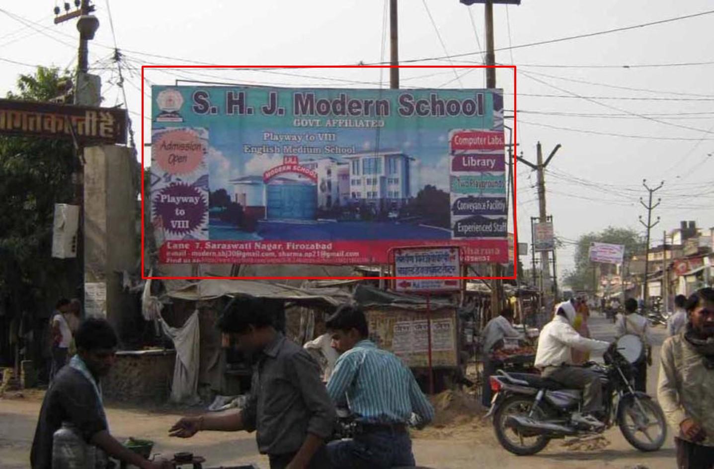 Jalesar Road, Vibhav Nagar Entry, Firozabad