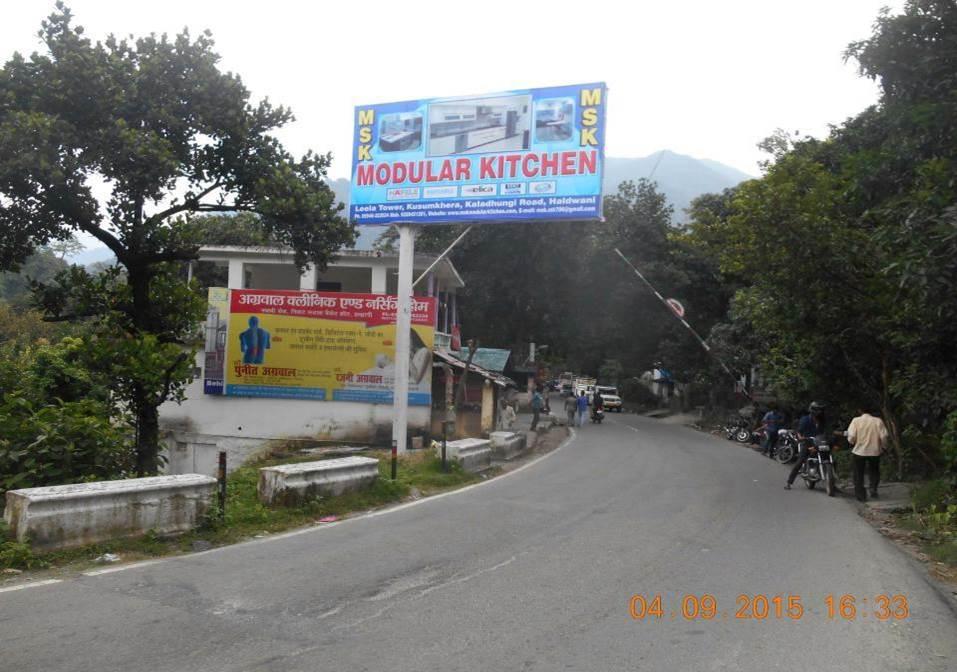 Nainital  Bheemtal Road, Check Post Barrier, Haldwani