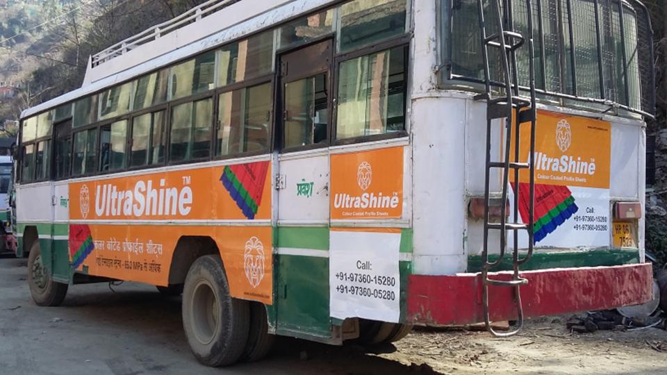 HRTC Bus Side Panel,Shimla