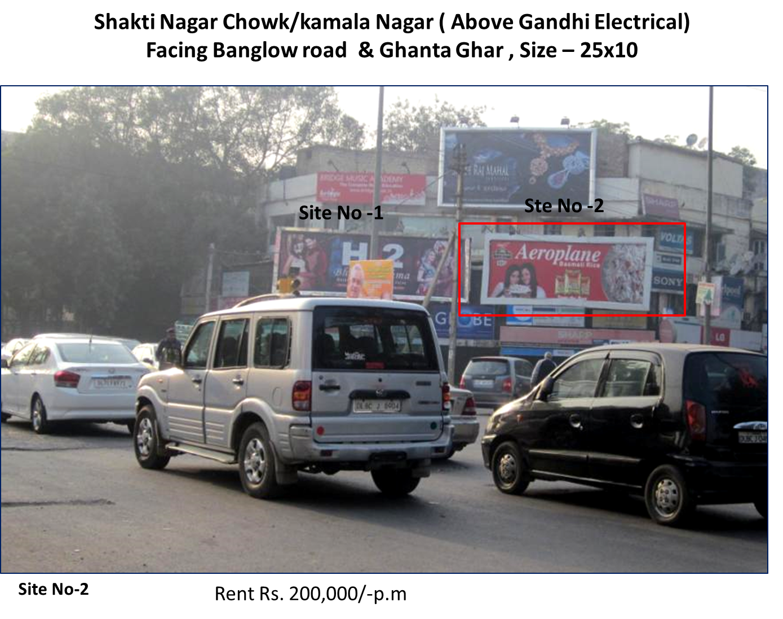 Shakti Nagar Chowk,kamala Nagar, New Delhi