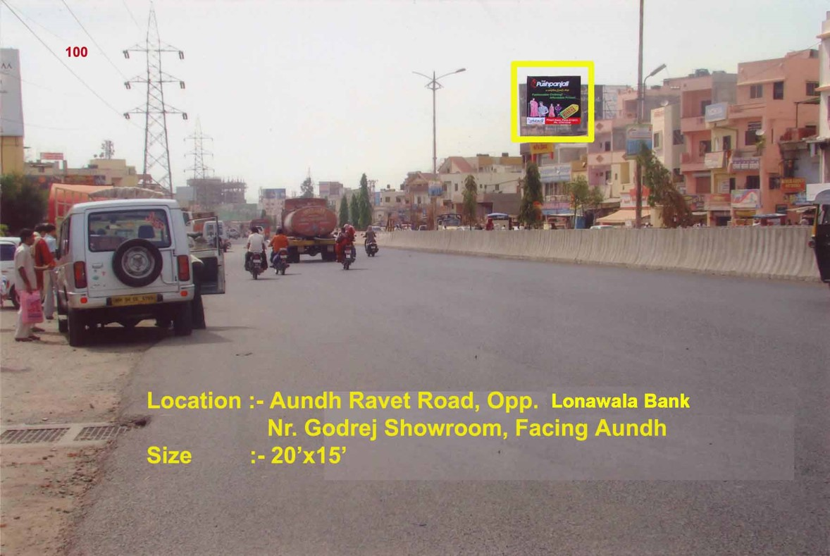 Aundh Ravet Road, Opp. Lonawala Bank, Nr. Godrej Showroom, Pune