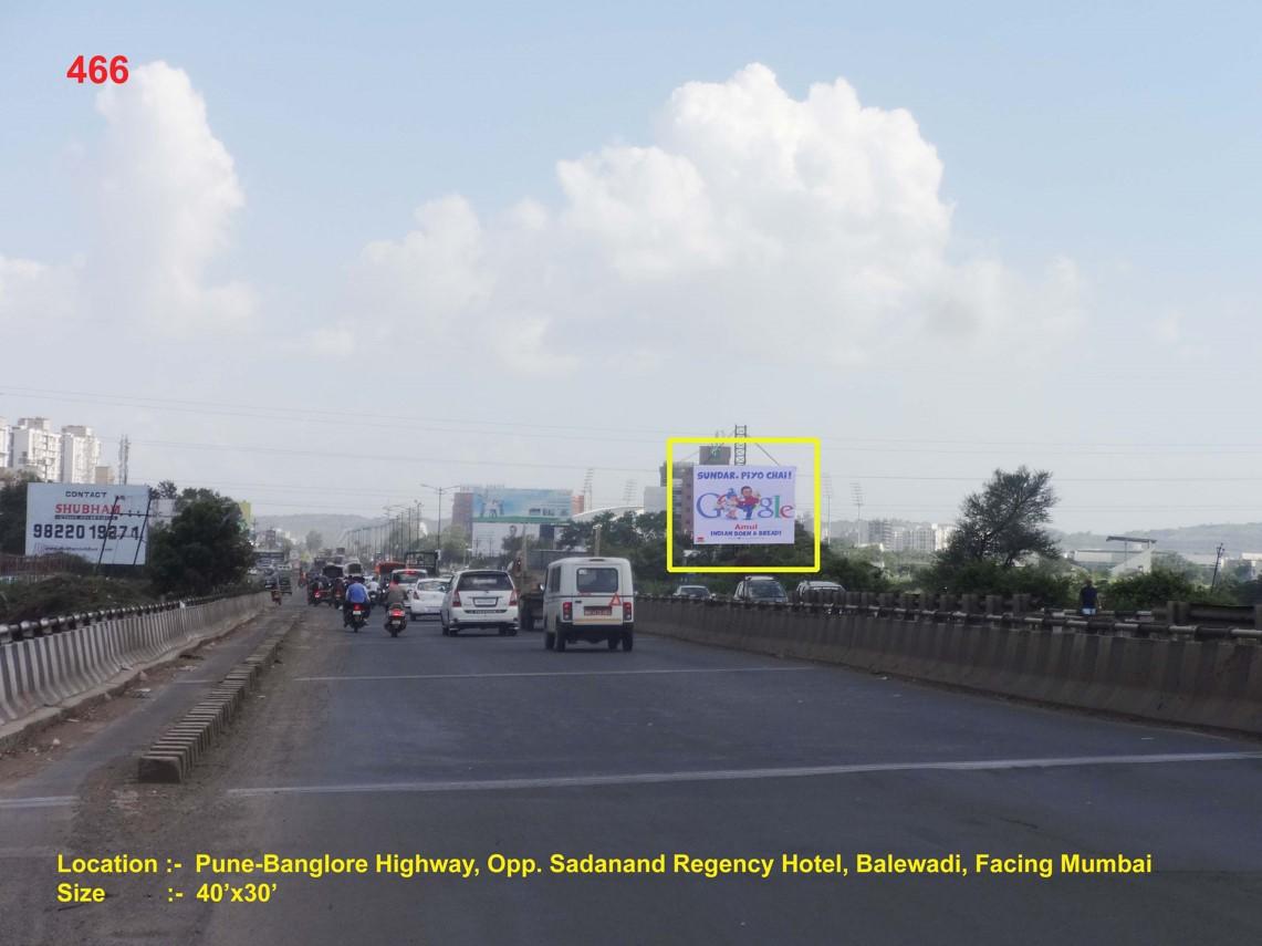 Pune-Banglore Highway, Opp. Sadanand Regency Hotel, Balewadi, Pune