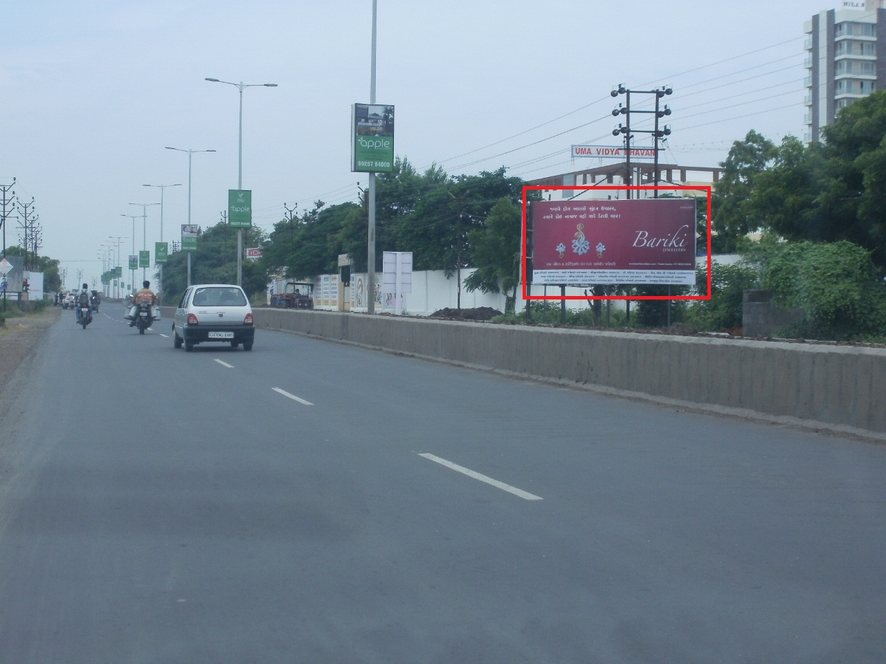 Kalawad Road, Iskon Temple, Rajkot