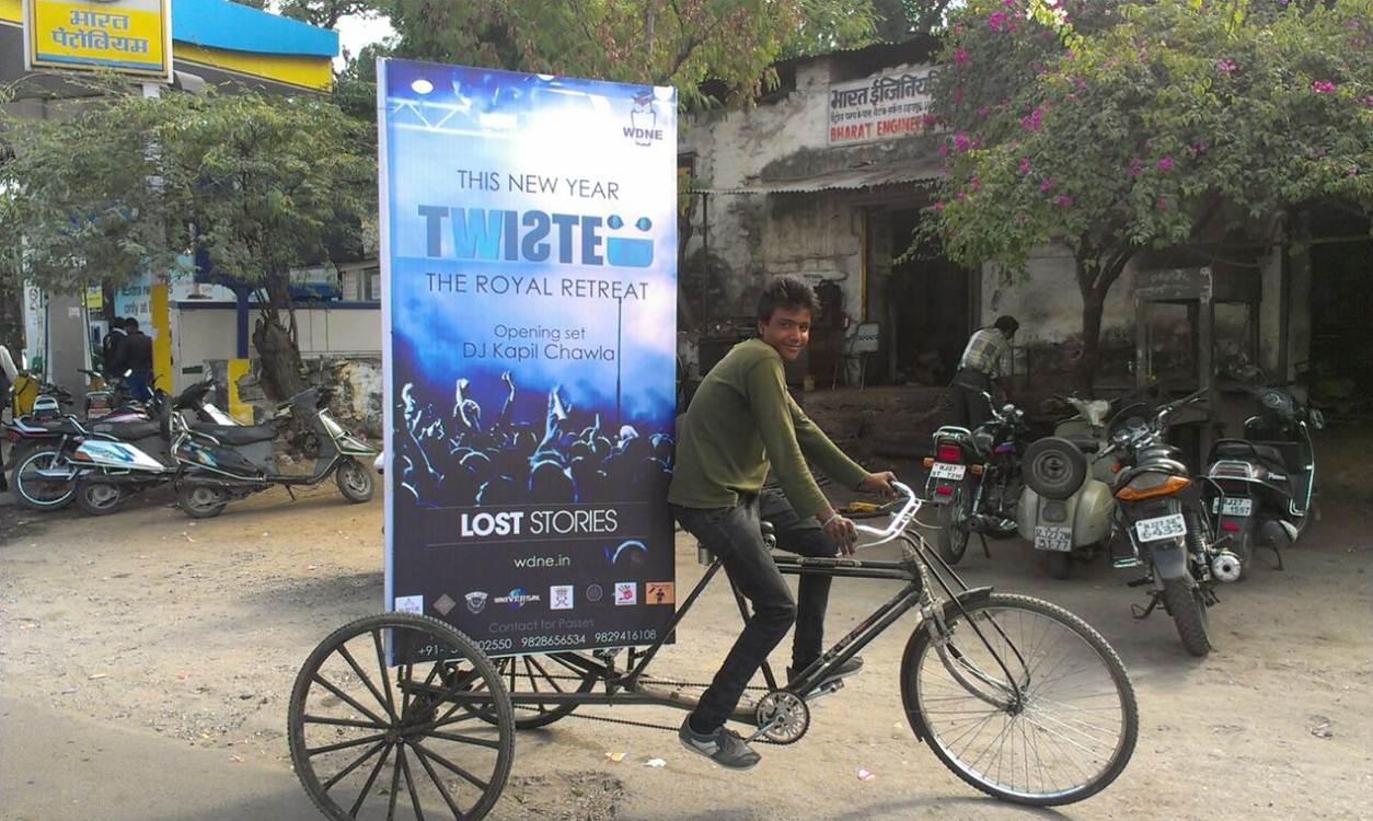 Cycle Rickshaw branding, Jaipur