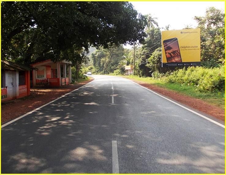 Airport road to Panjim at Sancoale, Goa