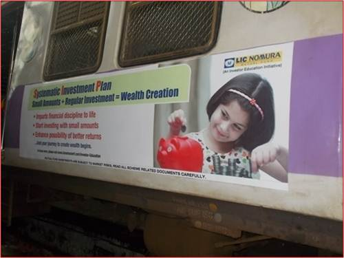 Siemens Train Vinyl Wrapping of 12 coach for LIC Nomura, Mumbai