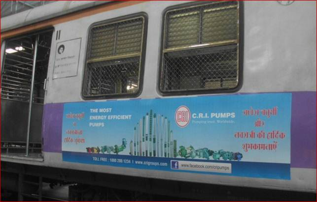 Siemens Train Vinyl Wrapping of 12 coach for C-R-I-Pumps, Mumbai