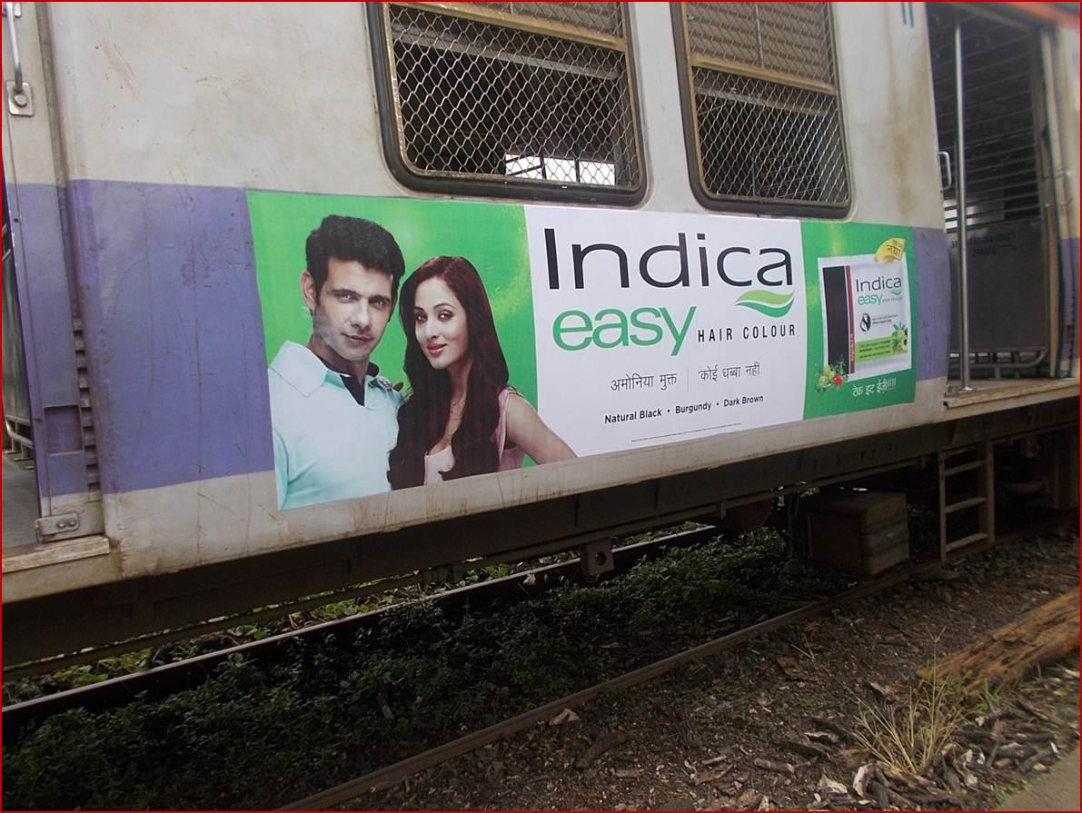 Siemens Train Vinyl Wrapping of 12 coach for Indica Easy Hair Colour, Mumbai