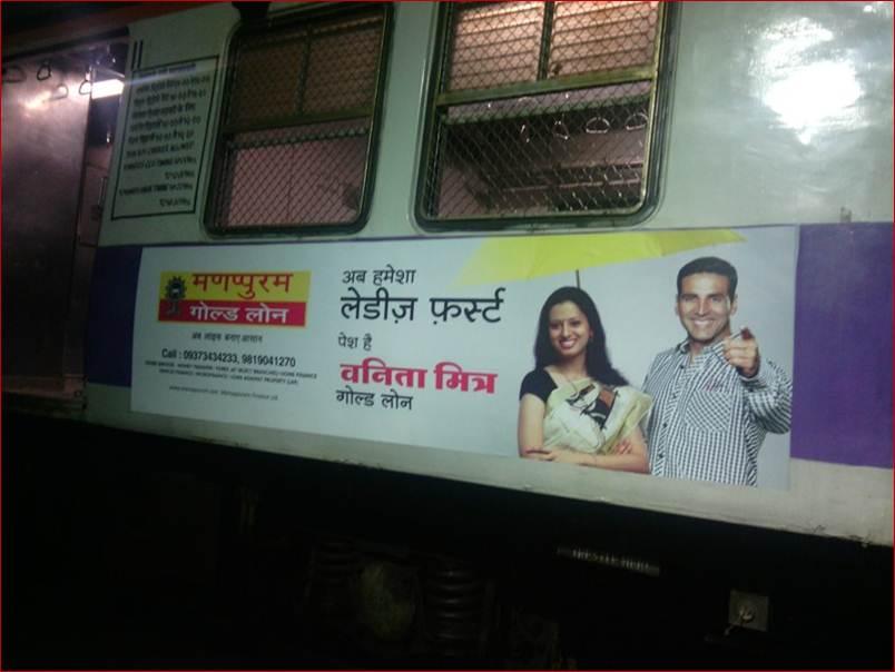 Siemens Train Vinyl Wrapping of 12 coach for Manappuram Gold Loan, Mumbai