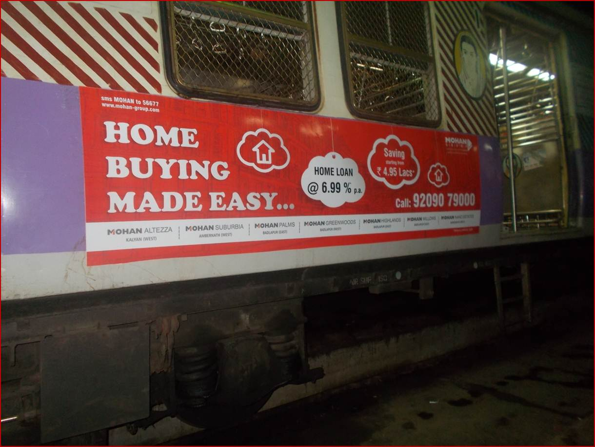 Siemens Train Vinyl Wrapping of 12 coach for Mohan Group, Mumbai