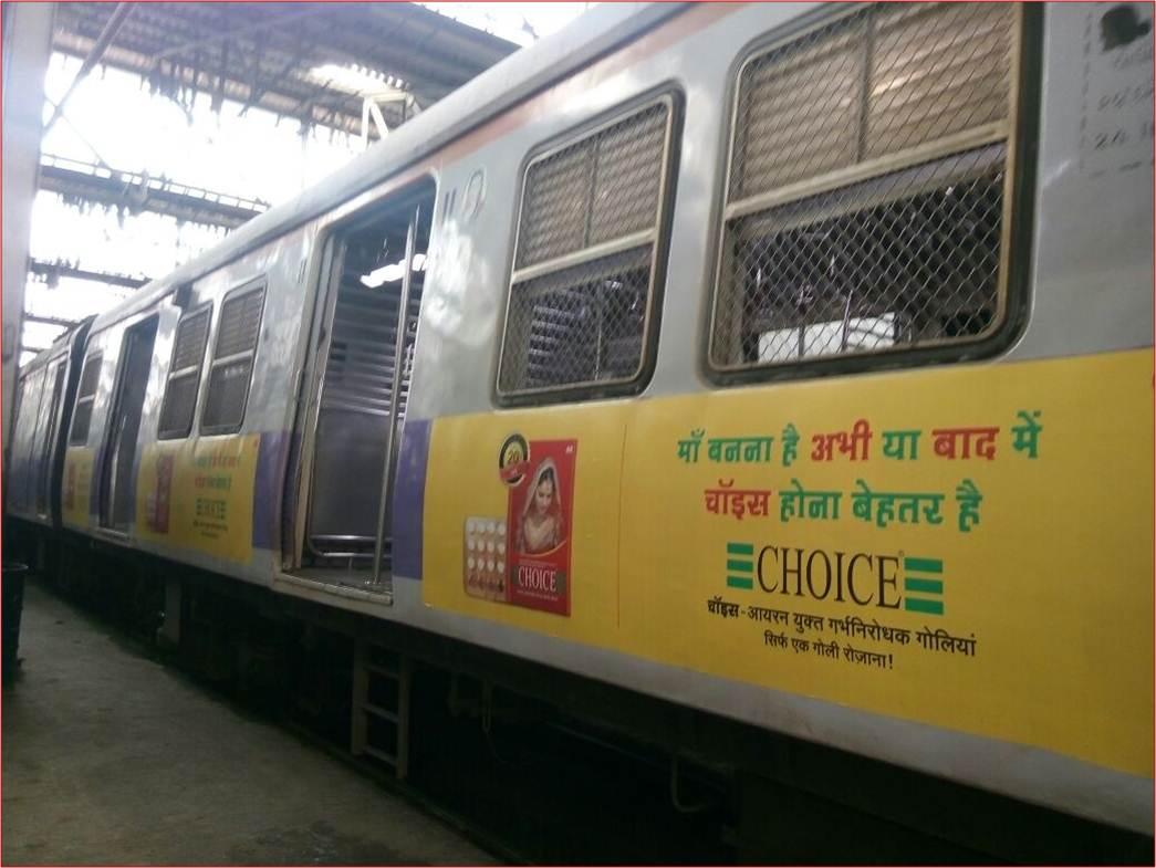 Siemens Train Vinyl Wrapping of 12 coach for DKT, Mumbai