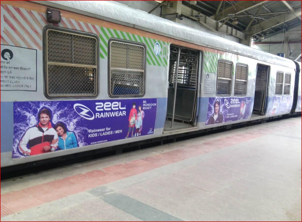 Siemens Train Vinyl Wrapping of 12 coach for Zeel Rainwear, Mumbai