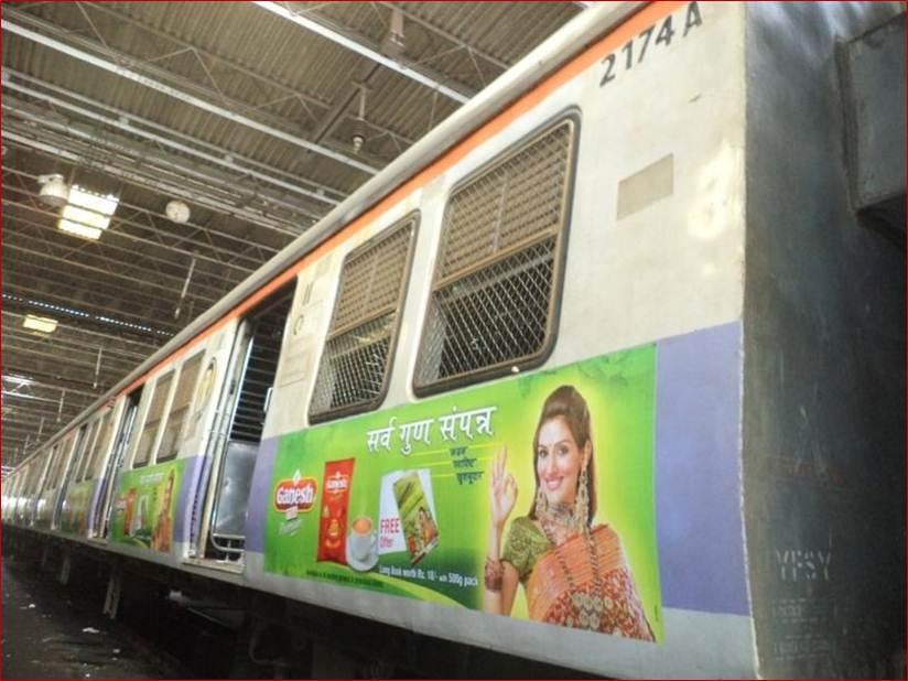 Siemens Train Vinyl Wrapping of 12 coach for Ganesh Tea, Mumbai