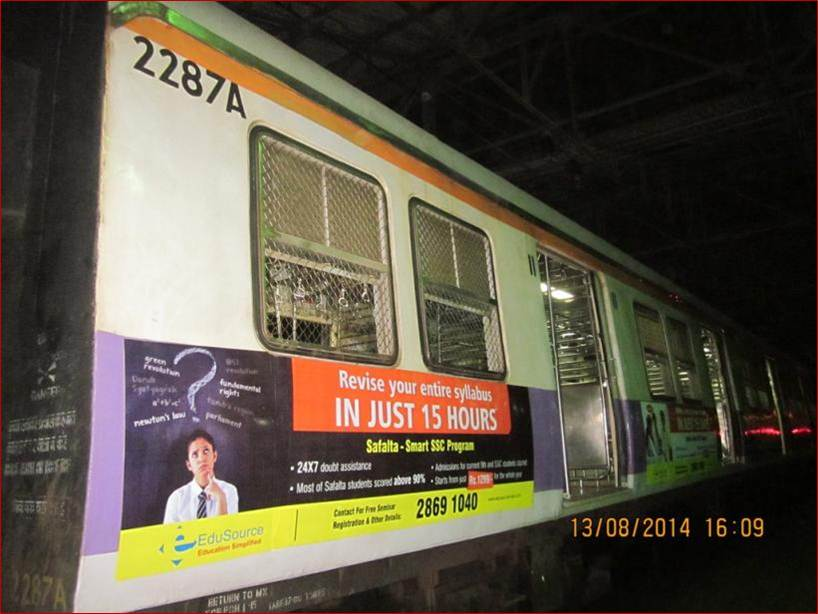 Siemens Train Vinyl Wrapping of 12 coach for Safalta, Mumbai