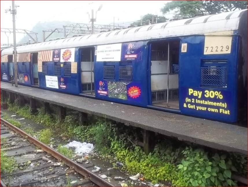 Full Train Painting of Coach for Ekta Dimension Builder, Mumbai
