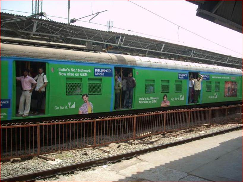 Full Train Painting of Coach for Reliance Mobile, Mumbai
