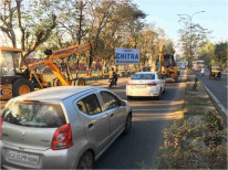 Dharampur Road Near Parade Ground Facing Abrama